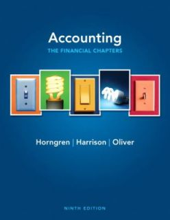Accounting by Charles T. Horngren, M. Suzanne Oliver, Walter T., Jr