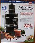 NEW JACK LALANNE POWER JUICER EXPRESS 30% MORE JUICE RECIEPES JUICING