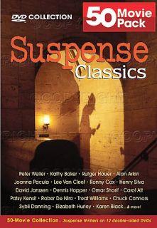 Suspense Classics   50 Movie 12 DVD Pack DVD, 2005, 12 Disc Set