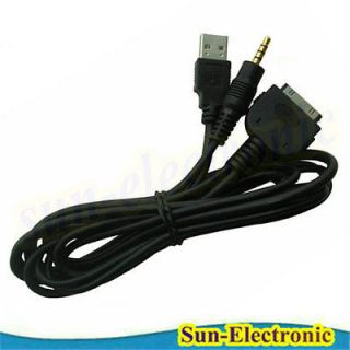 USB 3.5MM CADILLAC CTS AUX INPUT INTERFACE ADAPTER CABLE FOR iPOD IPAD
