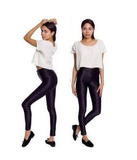 AMERICAN APPAREL NEW AUTHENTIC HIGHWAISTED BLACK DISCO PANTS TROUSERS