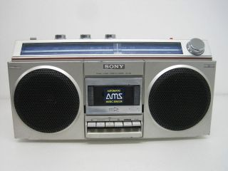 Vintage Sony CFS 400 BoomBox Portable Stereo Cassette Player Recorder