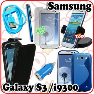 item Cover Case Car Kit Charger Cable Bundle For Samsung Galaxy S3