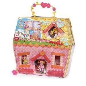 lalaloopsy carry along playhouse, sunny side up doll, 2 pets case