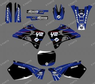 TEAM GRAPHICS&BACKGROUNDS DECALS STICKERS YAMAHA YZ125 YZ250 1996 1997