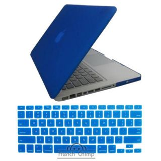 Rubberized plastic Hard case cover for macbook pro 13 + Keyboard cover