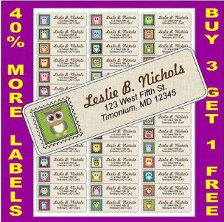 OWL ASSORTMENT #1   RETURN ADDRESS LABELS   ADDRESS STICKERS