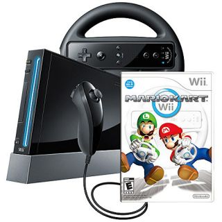 Nintendo Wii Mario Kart Pack Black Console (NTSC)
