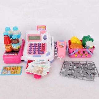 Kids Cash Register,Scanner,Grocery,Money,Light & Sounds Role Play and