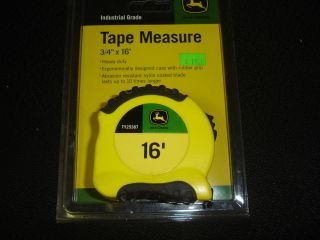 JOHN DEERE NEW IN PKG 3/4 INCH BY 16 FEET HEAVY DUTY TAPE MEASURE