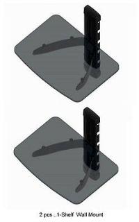 pcs. Single Shelf Glass Wall Mount for Cable Box, Satellite Box