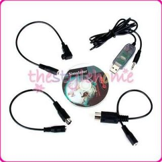 USB Flight Simulator FMS Cable RC Helicopter Controller