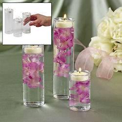 Glass Cylinder Tealight Candle Holder Wedding Centerpiece Sand