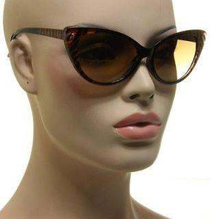Print Womens Nikita Sunglasses Designer Cat Eye Black Copper Brown