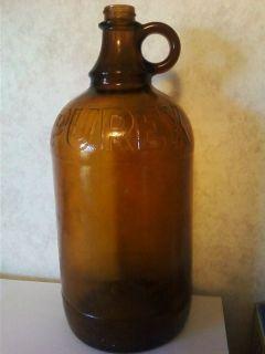 brown purex glass bottle