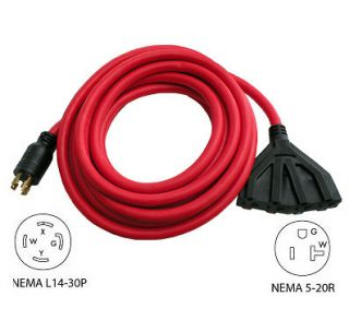 30A 25FT Conntek L14 30P Generator Extension Cord 20611