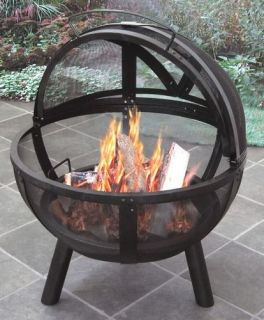 New Heavy Duty Outdoor Wood Fire Pit Grill Steel Metal Stove Camping