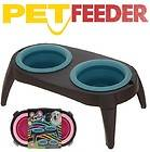 PET CAT DOG FOOD WATER BOWL FEEDER TABLE STAND FEEDING DISH MILK PUPPY