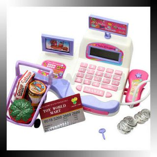 Display and Scanning Function Cash Register Toy Supermarket Toy Kids