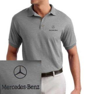 Mercedes Benz/ Logo EMBROIDERED Sport Gray Polo Shirt