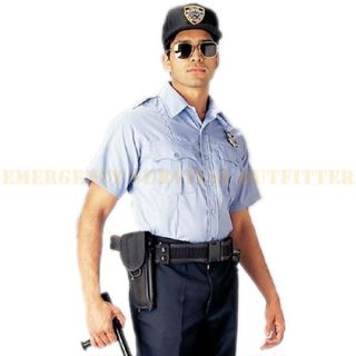 Light Blue Short Sleeve Police Issue Security Guard Uniform Shirt