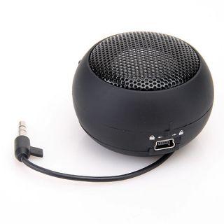 Black Mini Hamburger USB Portable Pocket Speaker for Laptop PC MP3/4