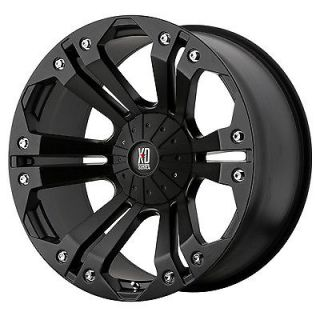 18 inch Black rim wheels XD778 Monster Chevy Dodge 2500 3500 Trucks 8