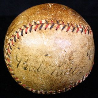 BABE RUTH & LOU GEHRIG SIGNED AUTOGRAPHED BASEBALL BALL JSA