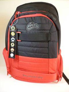 INKD SKULLCANDY Black & Red Downshift Laptop Backpack Bookbag   NWT