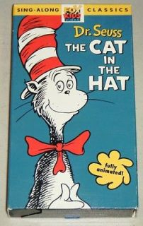 THE CAT IN THE HAT Fully Animated VHS Movie   20th Century Fox 1971