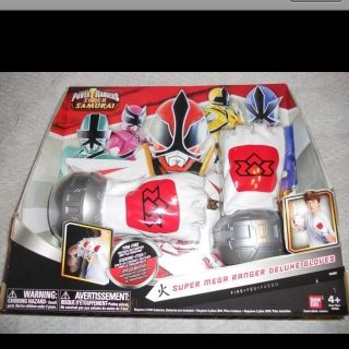 Power Rangers Samurai Super Mega Ranger Deluxe Gloves Motion activated