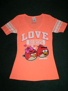 NEW ANGRY BIRDS T SHIRT   SIZE MEDIUM JUNIORS   TEE  NEW WITH TAGS