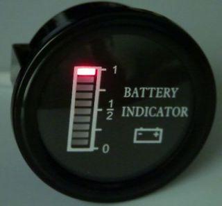 Volt EZGO Clubcar Yamaha Golf Cart Battery indicator meter gauge, BDI
