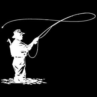 Fishing Die Cut Vinyl Decal (578) (003) fishing, outdoors, anglers