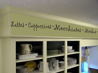 Coffee Kitchen Words Border Vinyl Wall Decor Lettering
