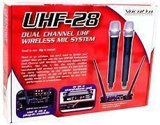 VOCOPRO UHF 28 DUAL CHANNEL UHF WIRELESS MIC SYSTEM NEW