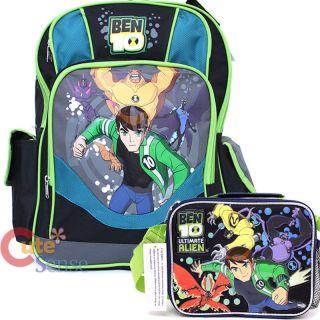 Ben 10 Alien Force School 16 Large Backpack & Insulated Lunch Bag Set