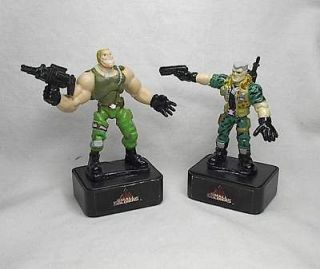 1998 HASBRO SMALL SOLDIERS CHIP HAZARD & BRICK BAZOOKA INK STAMPERS