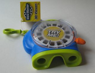 View Master 3D VIEWER Blue green + Demo Reel NWT Fisher Price Mattel