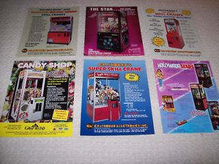 BOARDWALK ARCADE SKILL CRANE MACHINE FLYERS BROCHURES HOLLYWOOD