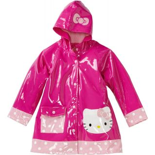 Western Chief   Girls Hello Kitty Cutie Polka Dot Pink Rain Coat
