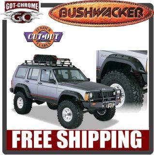 10911 07 Bushwacker Cut Out Fender Flares Jeep Cherokee XJ 4DR 1984