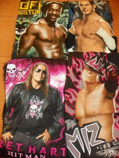 NEW WWE Shirts Pick 1 Miz, Kofi Kingston, Matt Hardy, Bret Hart