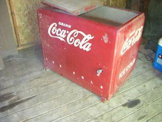 VINTAGE ANTIQUE DRINK COCA COLA ICE CHEST SIGN MACHINE PRIMITIVE RARE