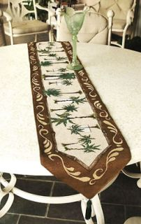 Palm Breeze ~ Palm Trees Tapestry Table Runner