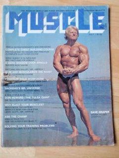BUILDER bodybuilding magazine/DAVE DRAPER/Arnold Schwarzenegger 7 73