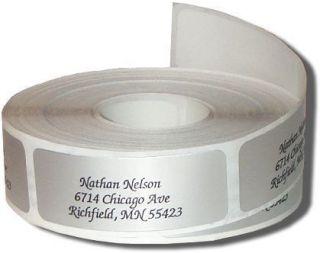 600 SILVER Return Address Labels on rolls