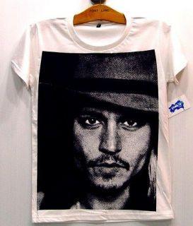 JOHNNY DEPP Celebs Movie Star Vintage Rock T Shirt S