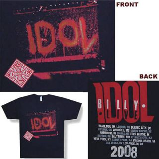 BILLY IDOL SPRAY PAINTED AMP 2008 TOUR BLK T SHIRT XL NEW