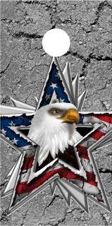 American Flag Eagle Star cornhole board wrap decal set COOL
